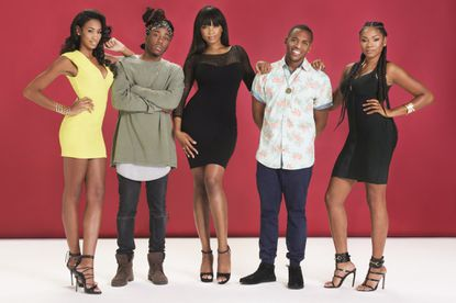 """From left:Davrielle Grenway, Colby Hall, Ivy Carter, Fred Watkins and Ciera Butts, members of the Baltimore squad on Oxygen media's """"Last Squad Standing."""" They call themselves The Empire."""