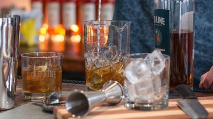 Cocktails at the new Ready Room Cocktail Bar, scheduled to open June 8, will prominently feature Old Line Spirits products.