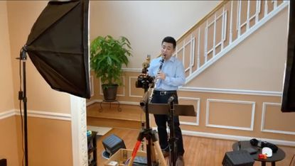 BSO musician, principal clarinetist YaoGuang Zhai, has been experimenting with artificial intelligence during his livestreams.