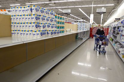 There are signs that people are beginning to hoard toilet paper again because of the pandemic.