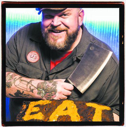Drew Pumphrey, Proprietor of the Smoking Swine BBQ & Smoked Meats Emporium