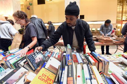 The Enoch Pratt Free Library will forgive $1 in library fines for every can of food you donate in January.