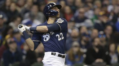 Christian Yelich ties record for most consecutive games with a home run to start a season