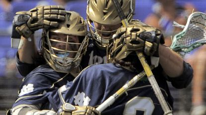 Attackman Matt Kavanagh (left) and Notre Dame could become first-time national champions at the end of this season.