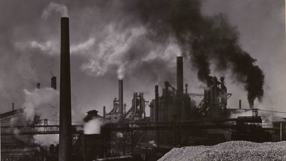 The Bethlehem Steel plant at Sparrows Point in 1955.