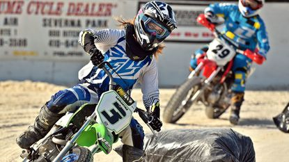 Westminster native Samantha Resch finished second (women, 150 CC) in a race at Timonium Short Track on Aug. 11.