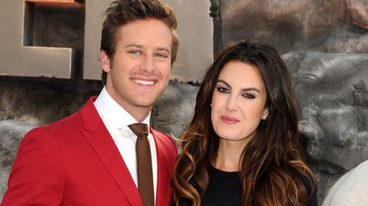 """Armie Hammer and his wife, Elizabeth Chambers, shown at the London premiere of """"The Lone Ranger"""" in July 2013, welcomed a baby daughter on Monday."""