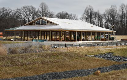 The new Harford Agribusiness Incubator building located at the Harford County Agricultural Center in Street is under construction.