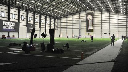 The Ravens will practice indoors this week to simulate playing at the Mercedes-Benz Superdome in New Orleans.