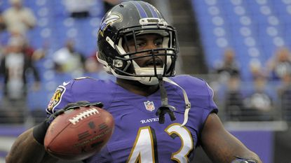 Running back Fitzgerald Toussaint was promoted to the Ravens active roster on Saturday.