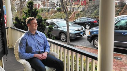 Cameron Harris, a 23-year-old former aide to Republican Del. David E. Vogt III of Frederick County, at his Annapolis home on Jan. 19, 2017. Harris was the creator of ChristianTimesNewspaper.com, a notorious fake news site which fabricated a story about election fraud in Ohio which went viral on social media.