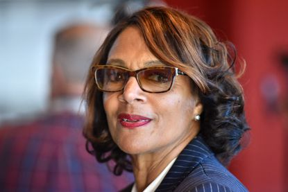 Former Mayor Sheila Dixon tells The Baltimore Sun she is again running for mayor, arguing her reputation as a competent manager and success at decreasing the city's murder rate should outweigh a scandal that forced her from office. Dixon is shown in this Nov. 4, 2019, photo at the Reginald F. Lewis Museum in Baltimore.