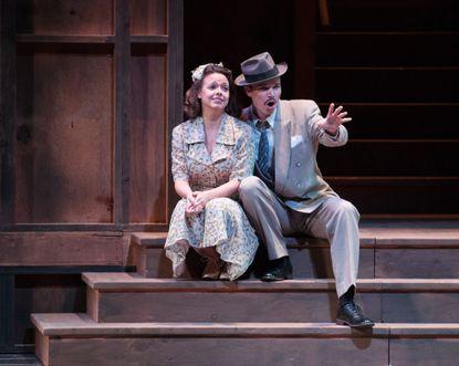 "Rebecca Elizabeth Wood as Rose, Joshua Hughes as Harry in Peabody Opera Theatre's ""Street Scene"""