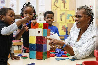 FILE -- A Head Start program classroom in Jacksonville, Fla., Nov. 19, 2018. President Joe Biden's funding request to Congress includes a $36.5 billion investment in high-poverty schools, a $20 billion increase from the previous year. (Eve Edelheit/The New York Times)