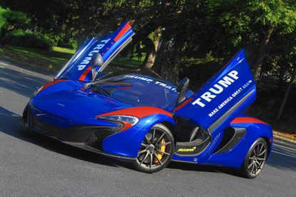 This McLaren 650S was set on fire in Aberdeen on Saturday night, according to fire investigators, The owner says he suspects his support for Donald Trump may have been a reason for the arson.