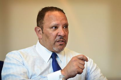 President of the National Urban League Marc Morial speaks to the Baltimore Sun editorial board Friday morning.