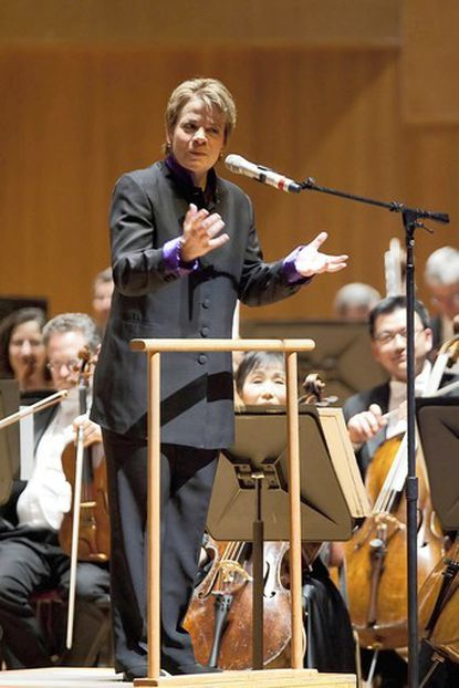 """Marin Alsop conducts the Baltimore Symphony Orchestra in an """"Off the Cuff"""" performance of Schumann's works."""