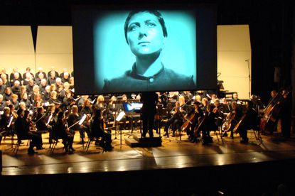 """J. Ernest Green conducts the Annapolis Chorale, Chamber Orchestra and soloists in """"Voices of Light,"""" set to the 1928 silent film """"The Passion of Joan of Arc."""""""