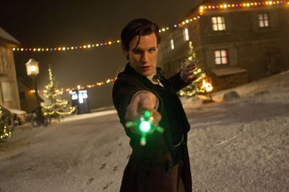 Matt Smith's final appearance as the Eleventh Doctor ranked as one of the most tweeted TV shows of the week, according to Nielsen.