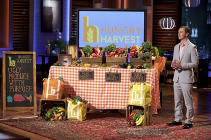 """Evan Lutz of Columbia-based Hungry Harvest makes his pitch to the investors on the Jan. 8 episode of """"Shark Tank."""""""