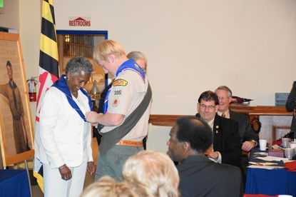 Virginia Harrison is honored as Carroll County Good Scout of the Year on Wednesday, Dec. 2.