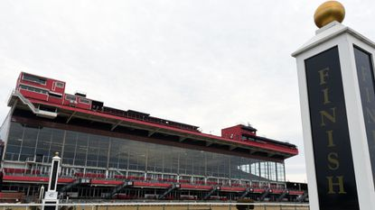 The Maryland Senate advanced Friday a plan that would allow The Stronach Group to use state bonds to pay for upgrades at horse racing facilities in Laurel and Bowie — provided the company makes progress on redeveloping Pimlico Race Course, shown in this file photo.
