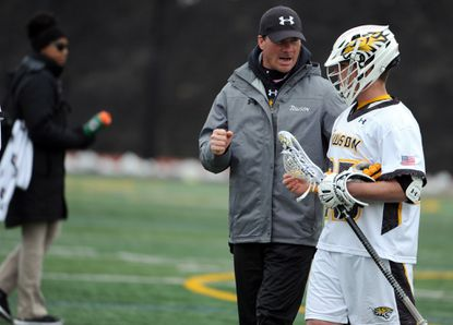 Towson men's lacrosse head coach Shawn Nadelen, speakingTyler Young, said he wants to remain at Towson despite openings at six Division I schools.