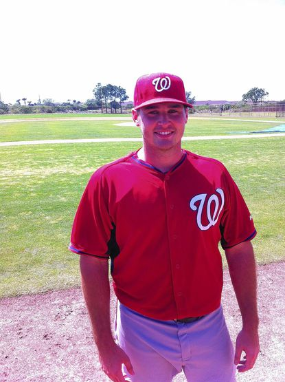 Shawn Pleffner, 24, a former Arundel High School standout, has been working with the Washington Nationals at Viera, Fla.
