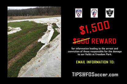 Sykesville sports programs are offering a reward for information about the vandalism to their playing field.