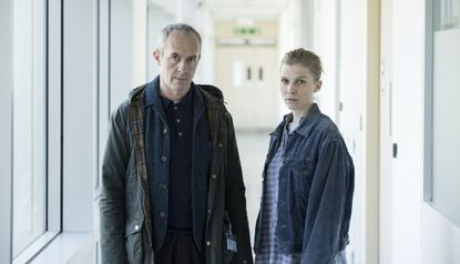 """Stephen Dillane and Clémence Poésy in """"The Tunnel."""" The third and last season arrives Sunday on PBS."""