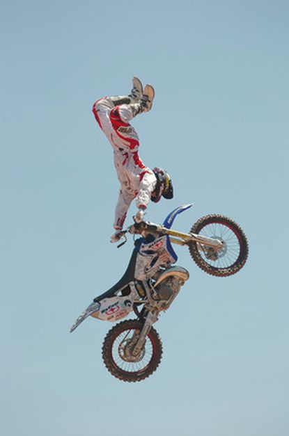 Jeremy Lusk competes in the freestyle motocross finals at the AST Dew Tour in Baltimore. Lusk died Feb. 9, 2009, of head injuries, two days after crashing while trying to land a backflip in competition in San Jose, Costa Rica. He was 24.