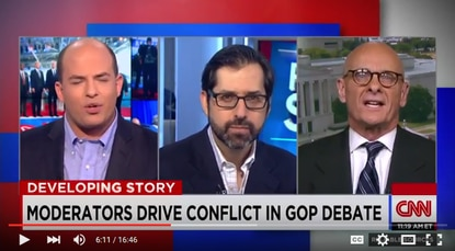 CNN's Brian Stelter, NPR's David Folkenflik and I debate the GOP debate and the return of Brian Williams.