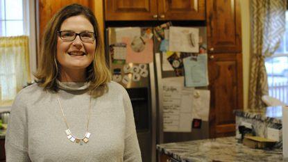 Katie Riesner in her home in Catonsville.