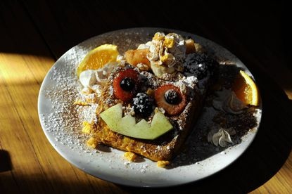 This is the Cap'n Crunch French Toast at the Blue Moon Cafe in Fells Point.
