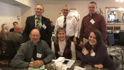 Top row, from left: Joe Kuhn, Jason Myers and Greg Dell. Bottom row: Bill Rasche, Mary Rasche and Ashley Barber.
