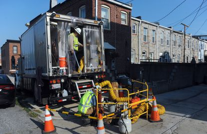 BGE crews on Fleet Street between S. Kenwood and S. Belnord Avenues, are on the scene trying to restore power for a large portion of Canton that has been without power since last night.