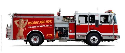 PETA wants to put sexy ad on Baltimore fire trucks