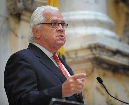 Senate President Thomas V. Mike Miller opens Thursday's special session on expanded gambling.