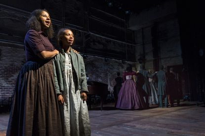 Nicole Lewis, left, and Mackenzie Kristine Jarrett in 'A Civil War Christmas' at Center Stage