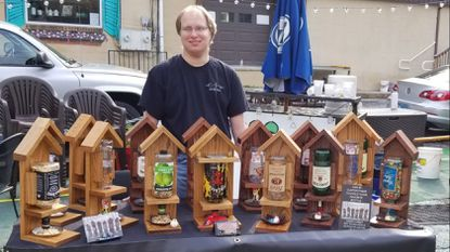 Winfield man, surviving despite heart defects, creates and sells custom 'boozy' bird feeders
