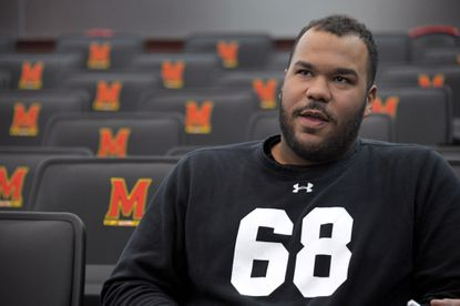Maryland senior offensive guard Ellis McKennie has become the voice of the team, particularly in the wake of the death of teammate Jordan McNair.
