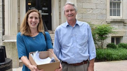Rodgers Forge Community Association board member Jaime Fenton and former Del. Steve Lafferty submitted paperwork earlier this year making the Towson neighborhood the first to scrub its land records of racist restrictive covenants. File.