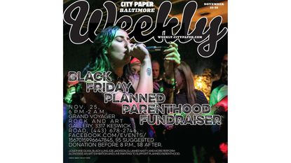 Friday: Black Friday Planned Parenthood Fundraiser