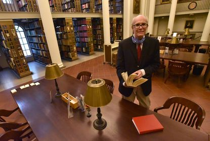 Francis O'Neill, senior reference librarian at the Maryland Historical Society, has worked for 40 years at the society.