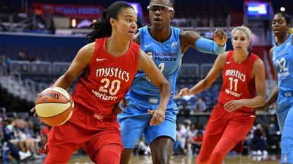 "Kristi Toliver, shown against Chicago last month, called the team's move to Smith Center for the playoffs ""unfortunate"" but ""that's just life."""