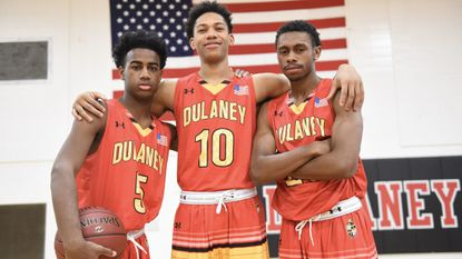 From left, Dulaney freshman Ryan Conway, sophomore Che Evans and senior Josh Cornish will be key players for the Lions, who begin their season on Dec. 8 at home against Western Tech at 7 p.m.