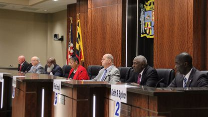 Candidates for the 2017 Laurel City Council general election answer questions from the community during a public forum Oct. 18 at Laurel Municipal Center.