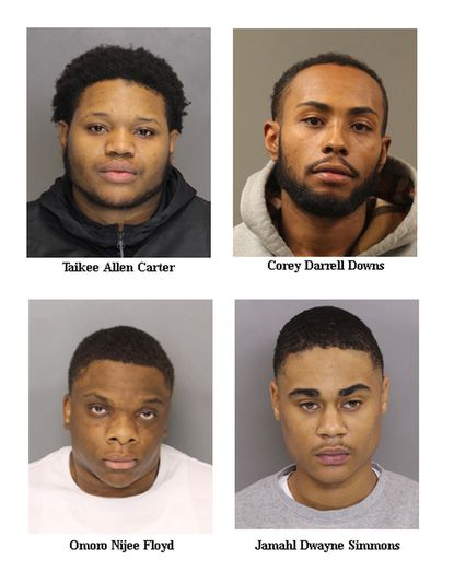 Taikee Carter, Corey Downs, Omoro Floyd, and Jamahl Simmons were charged for their alleged involvement in the fatal shooting of Michael McCoy in early November, according to Baltimore County Police.