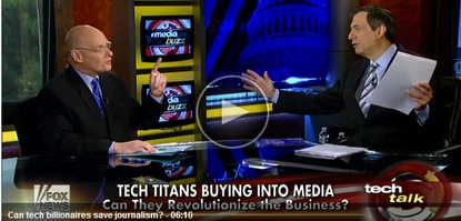 Host Howard Kurtz and David Zurawik talk about captains of technology moving into the newspaper business.