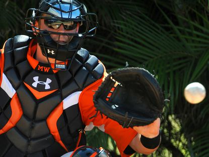 Matt Wieters can't become a free agent until after the 2015 season, but the Orioles don't have significant catching talent behind him in the organization. That could be addressed with one of their early draft picks this week.